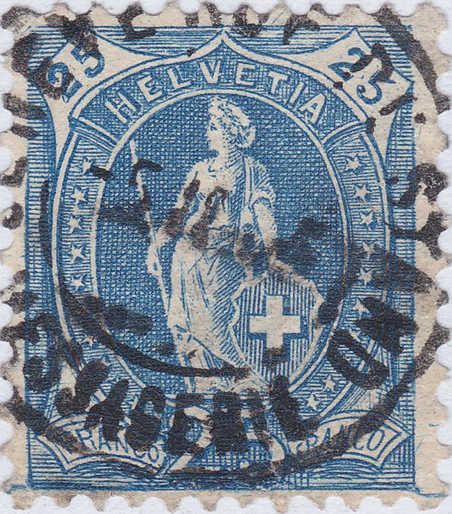 SBK 87A, Stehende Helvetia, 25 Rappen 87a_3_16