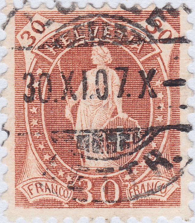 SBK 88A, Stehende Helvetia 30 Rp 88a_3_16