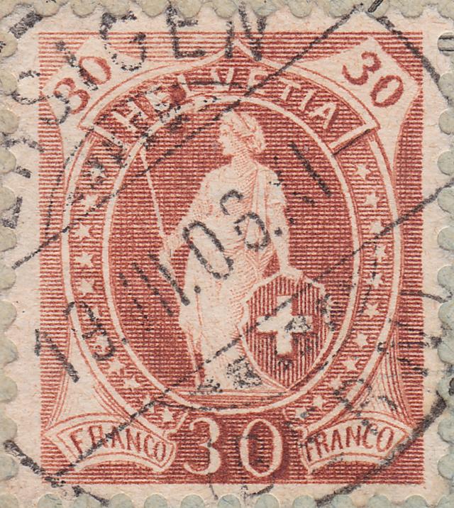 SBK 88A, Stehende Helvetia 30 Rp 88a_3_18