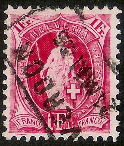 SBK 91A, Stehende Helvetia, 1 Franken 91a_2_10