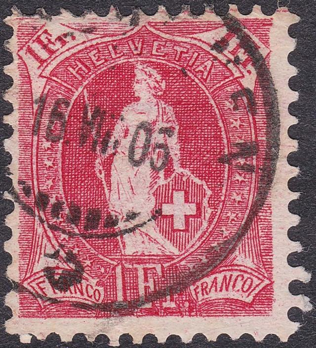 SBK 91A, Stehende Helvetia, 1 Franken 91a_2_13