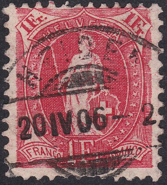 SBK 91A, Stehende Helvetia, 1 Franken 91a_2_16