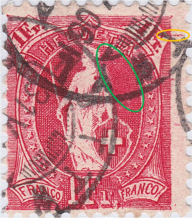 SBK 91A, Stehende Helvetia, 1 Franken 91a_3_13