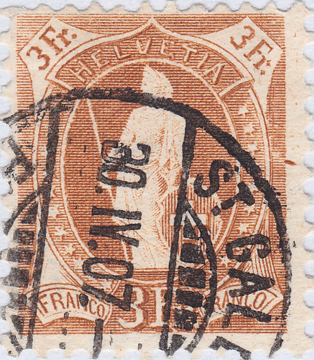 SBK 92A, Stehende Helvetia 3 Fr 92a_2_12