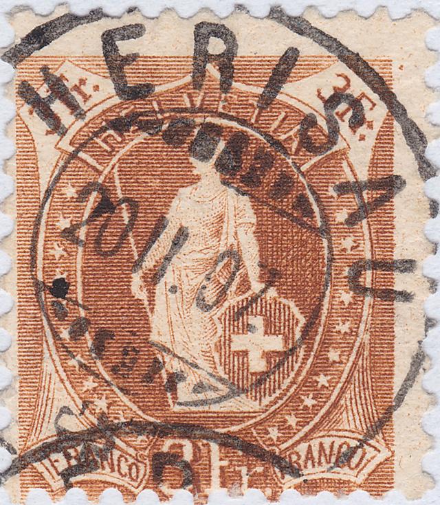 SBK 92A, Stehende Helvetia 3 Fr 92a_3_26