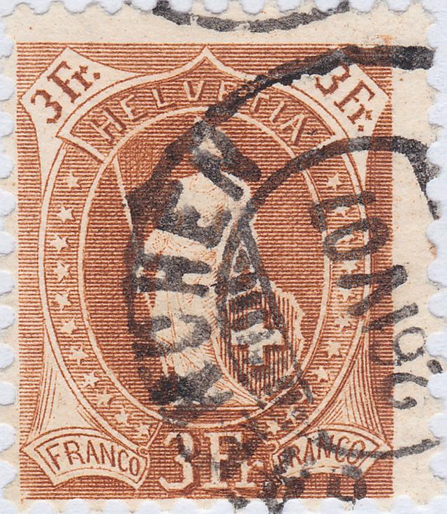 SBK 92A, Stehende Helvetia 3 Fr 92a_3_27