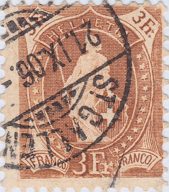 SBK 92A, Stehende Helvetia 3 Fr 92a_3_28