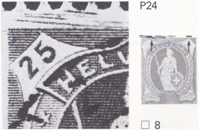 Stehende - SBK 93B, Stehende Helvetia 25 Rp, Type II 93b_2_11