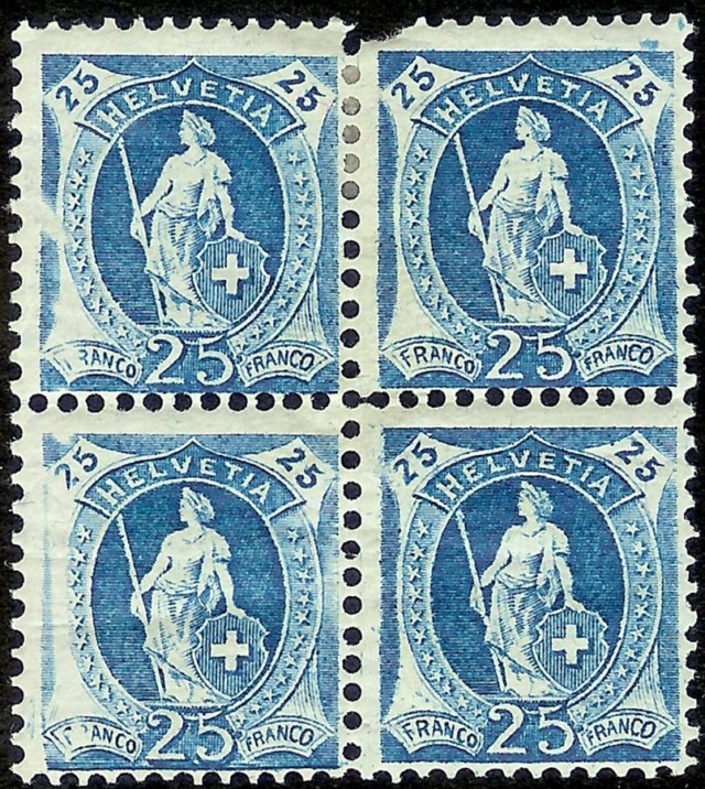 Stehende - SBK 95A, Stehende Helvetia 25 Rp, Type II 95a_2_10