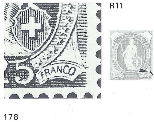 Stehende - SBK 95A, Stehende Helvetia 25 Rp, Type II 95a_3_12