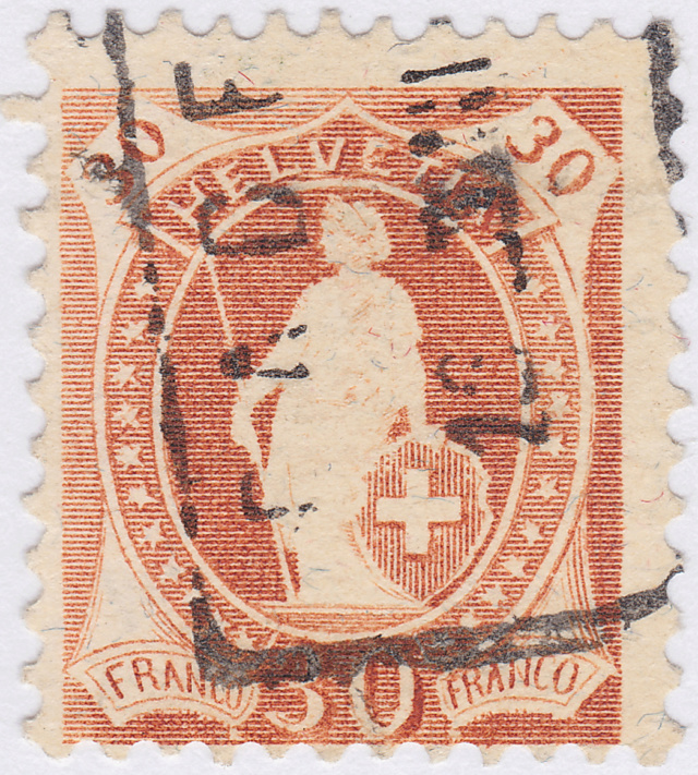 SBK 96B, Stehende Helvetia 30 Rp 96b_ti10