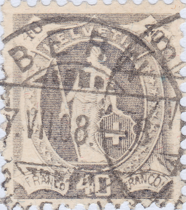 SBK 97A, Stehende Helvetia 40 Rappen 97a_2_14