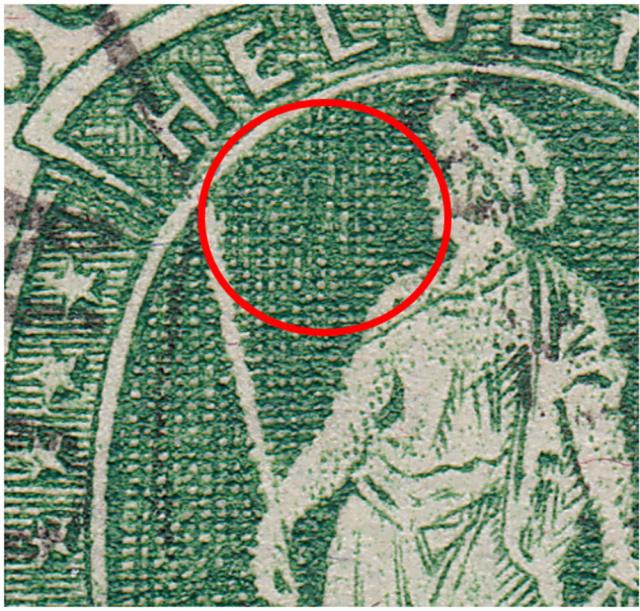 SBK 98A Stehende Helvetia 50Rp grün 98a_3_18