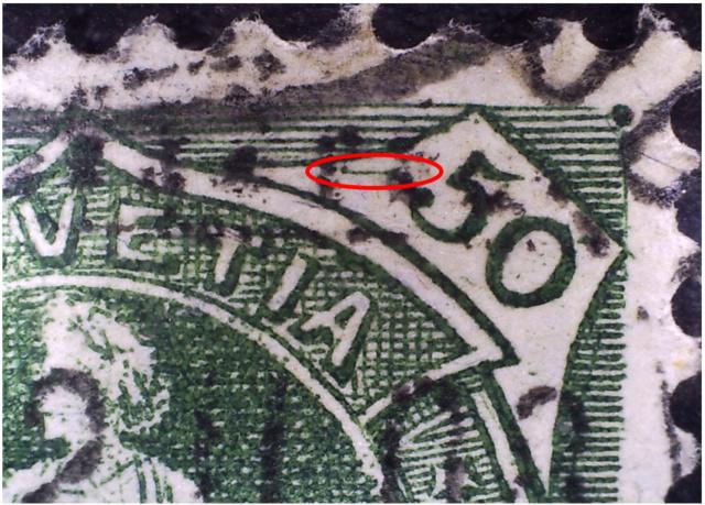 SBK 98A Stehende Helvetia 50Rp grün 98a_3_23