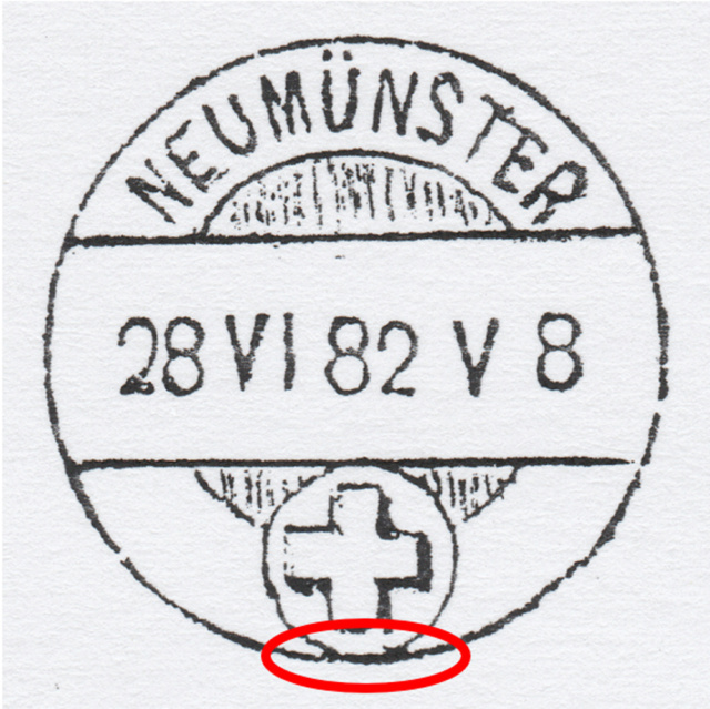 SBK 45 (Mi. 37), 5 Rp braun, Faserpapier 1881 Echt_t12