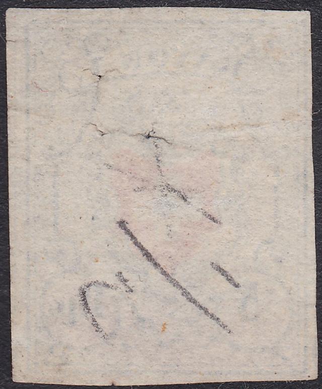 SBK 17II (Mi 9II) Rayon I, hellblau ohne Kreuzeinfassung Rayon_14