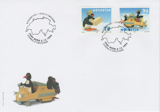 SBK 987 (Michel 1707), PINGU (Pakete ohne Schnur) Sbk_9811