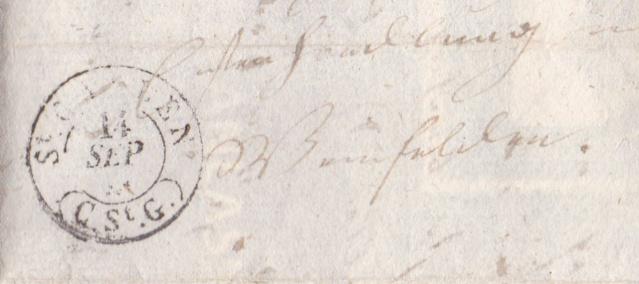 Ortsbrief von und nach St. Gallen in der Zeit von 1.1.1850-30.09.1850 St_gal11