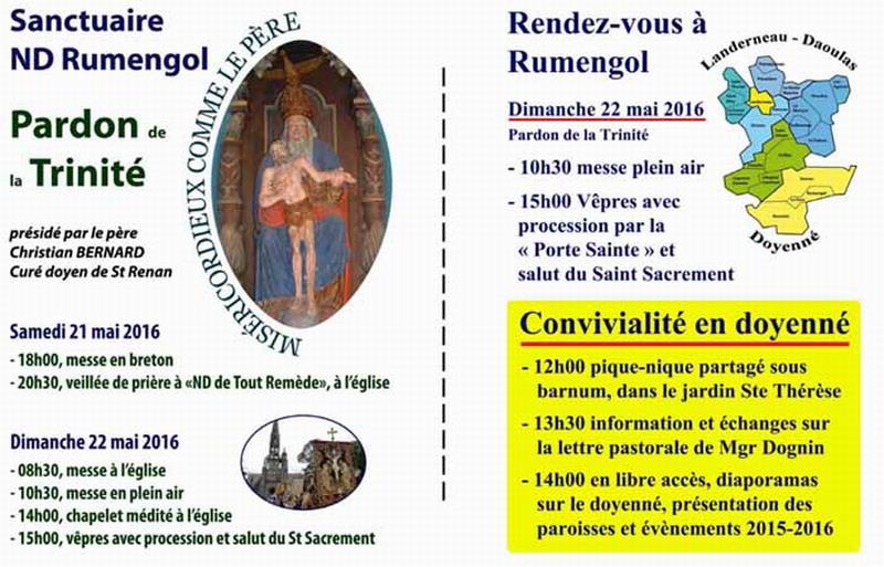 Planning des Messes de l'Ensemble Paroissial Sant Mikêl /du 22 avril au 26 juin 2016/ Lettre du mois de Juin Affich15