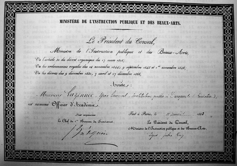Yves Lazennec, Instituteur, maire de Brasparts Imgp7229