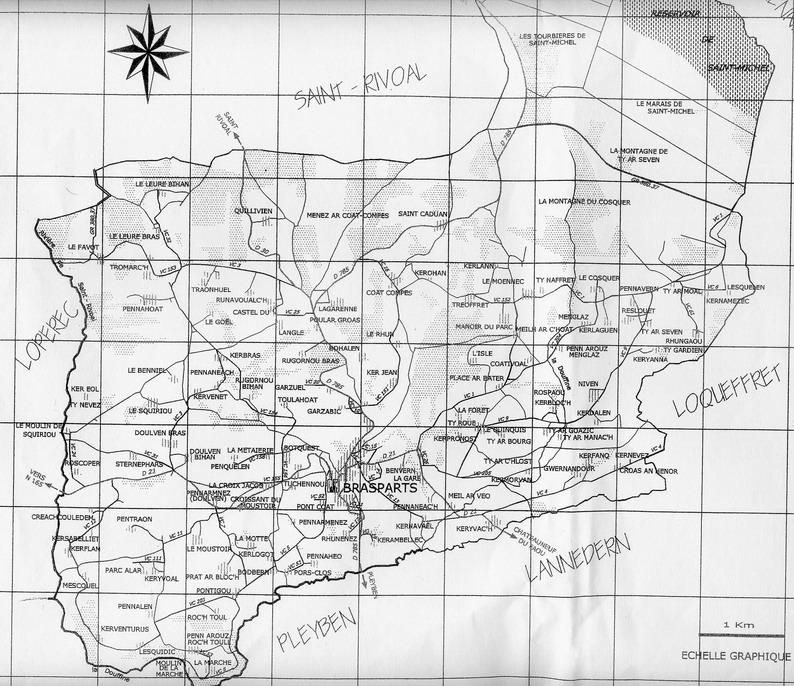 Les noms de lieux de la commune de Brasparts (avec plan joint) (1ère partie) Plan_d10
