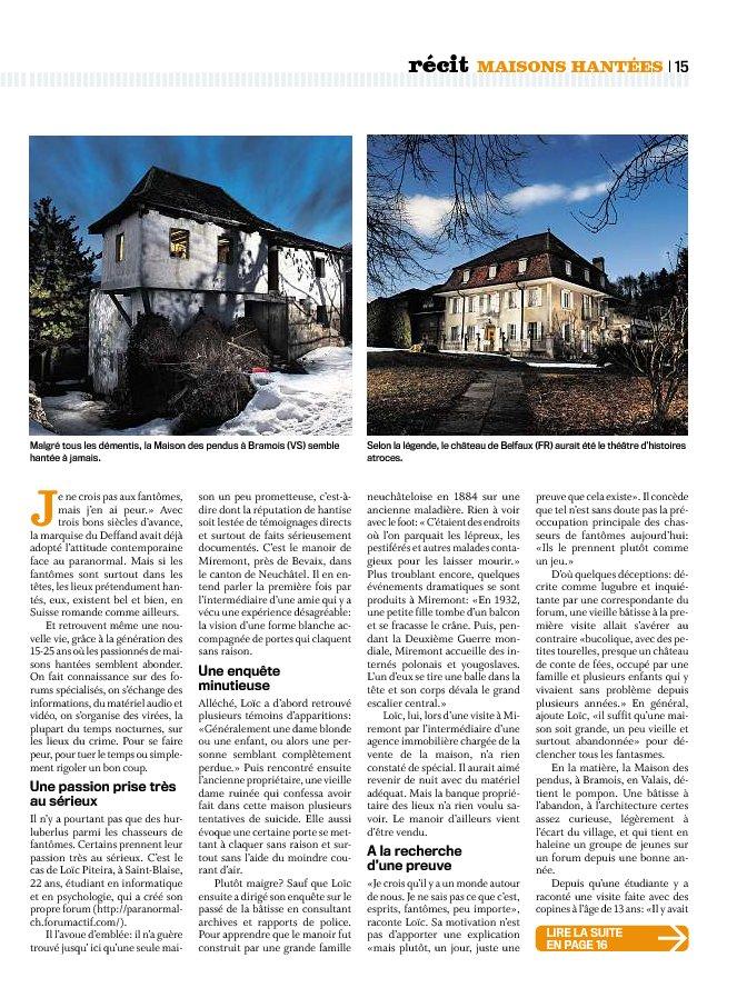 Article du MigrosMagazine Migros12
