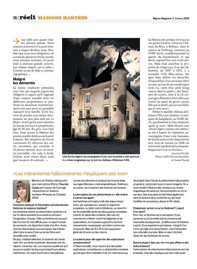 Article du MigrosMagazine Migros14