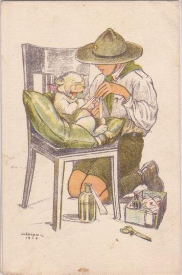 Pfadfinderkarten von Lájos Márton 1926er11