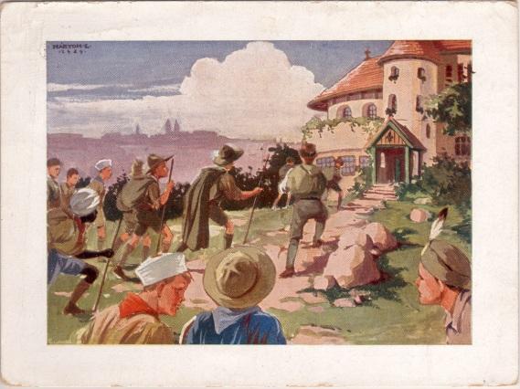 Pfadfinderkarten von Lájos Márton 1929bu10