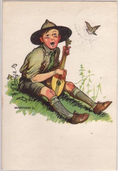 Pfadfinderkarten von Lájos Márton 1933sa10