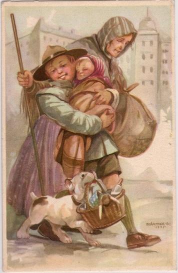 Pfadfinderkarten von Lájos Márton 1937gu10