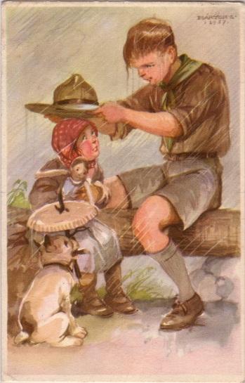 Pfadfinderkarten von Lájos Márton 1937re10