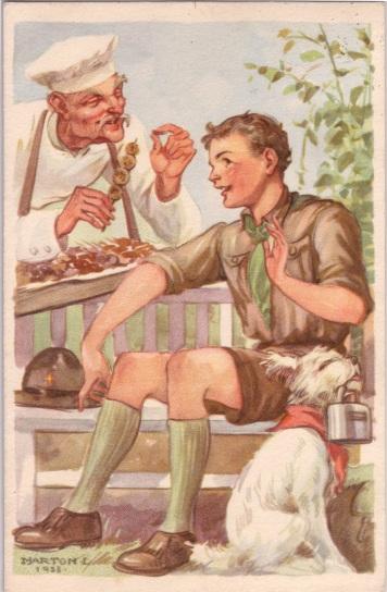 Pfadfinderkarten von Lájos Márton 1938ko10