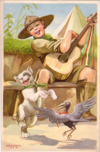 Pfadfinderkarten von Lájos Márton 1938vo10