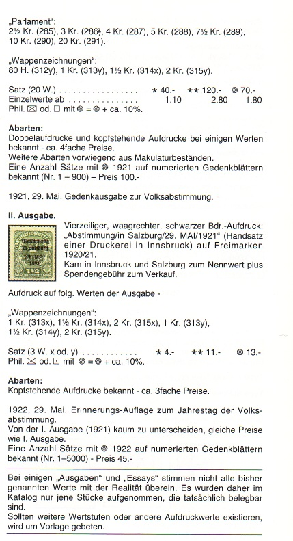 Deutsch-Öst Marke mit nicht katalogisiertem Aufdruck Ank310