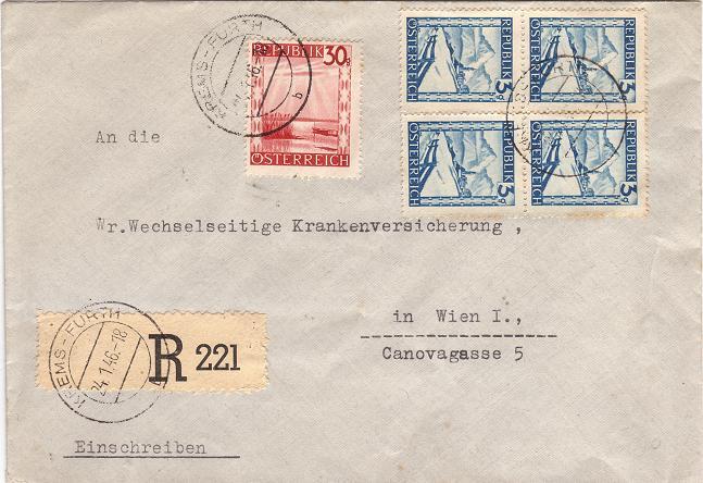 Landschaftsbilder ANK 738-766  -  Belege Buntel10