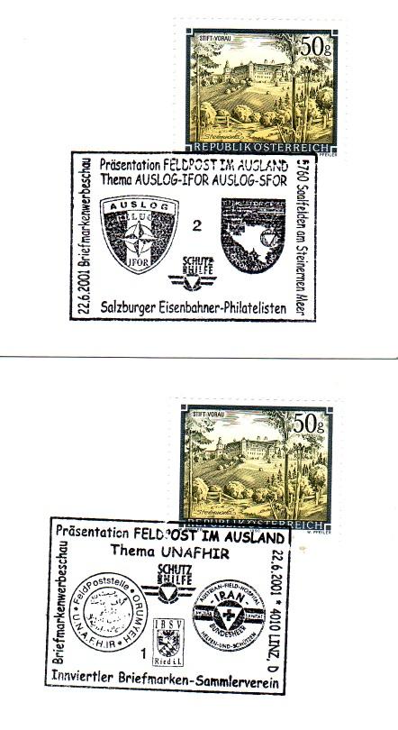 """Miltär - Sonderstempel """"Feldpost im Ausland"""" Feldpo12"""