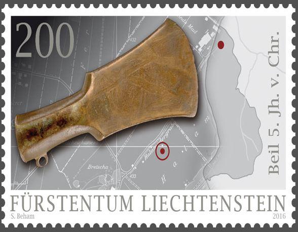 Liechtenstein - Liechtenstein 2016 - Ausgabetag 7. März Funde310