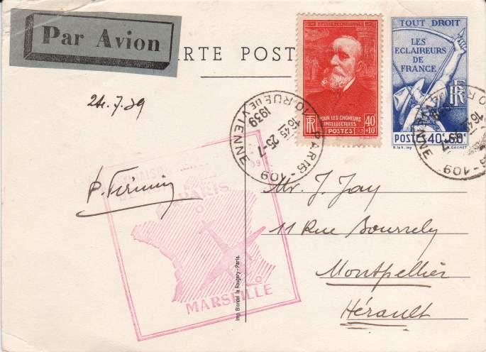 Flugpost Frankreich, wer weiß etwas dazu? Ganzsa11
