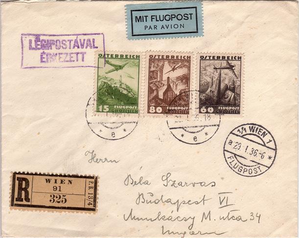 Ältere Flugpost aus Wien Luftpo14