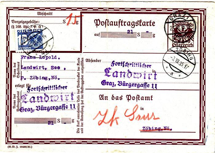 Postauftragskarten Postau11