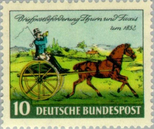 Das Posthorn auf Briefmarken Postho10