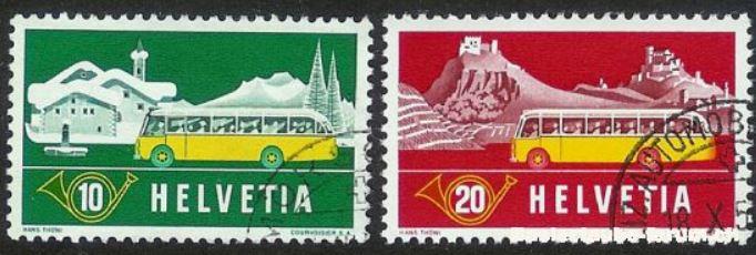 Das Posthorn auf Briefmarken Postho11