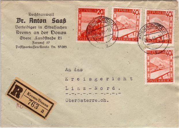 Orange Landschaft Österreich - Belege Rotela12
