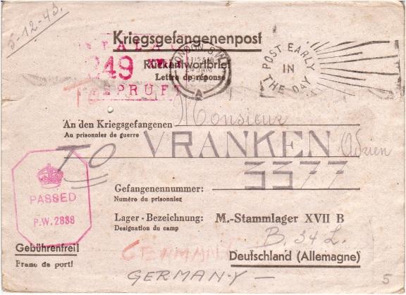 Kriegsgefangenenpost Stalag17
