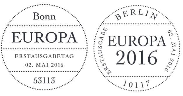 Ausgaben 2016 - Deutschland Stempe28