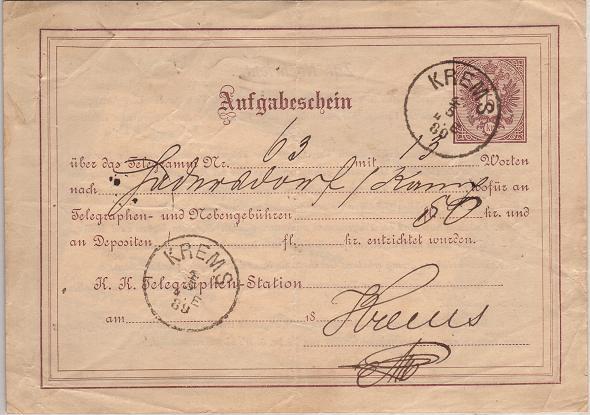 Telegramm - Aufgabebescheine Telegr10