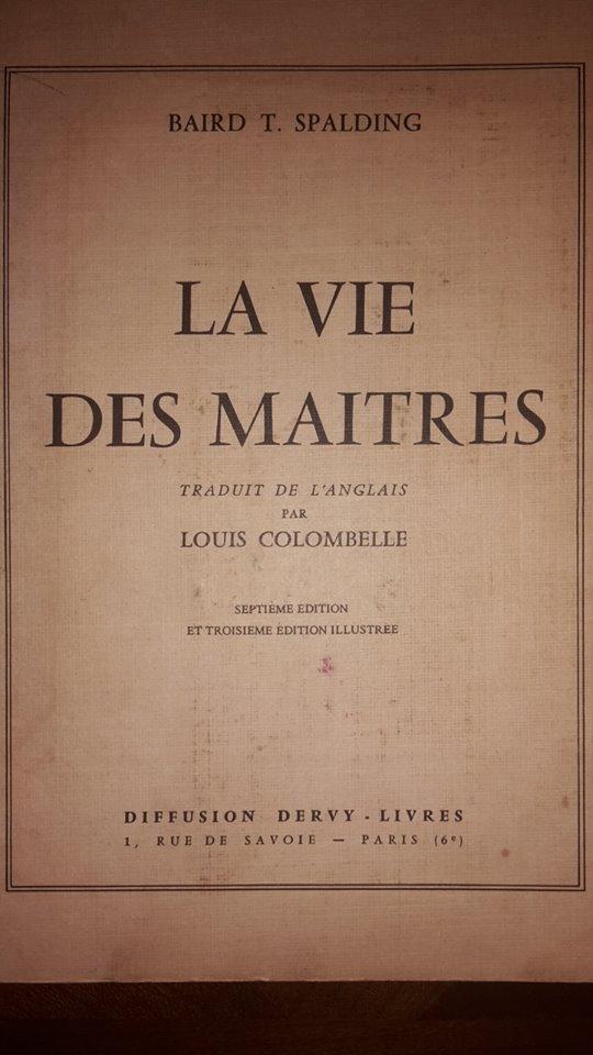 Le Chapitre perdu (La Vie des Maîtres, de Baird T. Spalding) 12670210