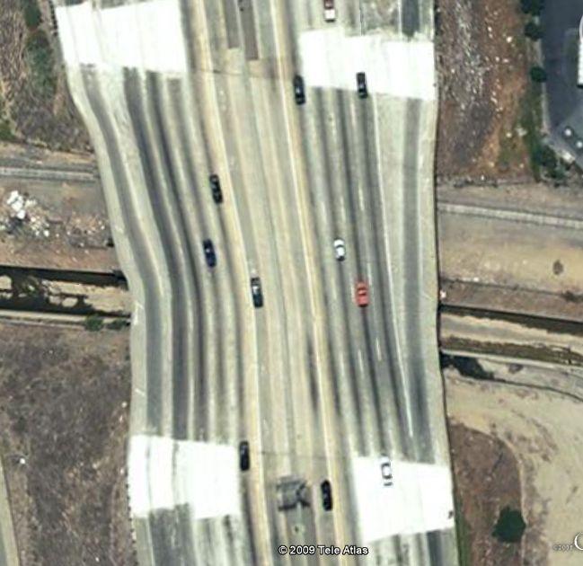 Autoroute tordue à Los Angeles, Californie - Etats-Unis / USA Captu170