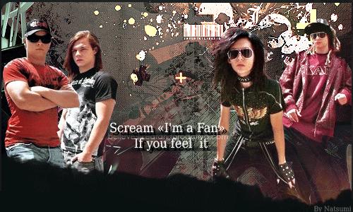 Scream «I'm a fan» If you feel it